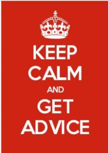 Keep Calm and Get Advice